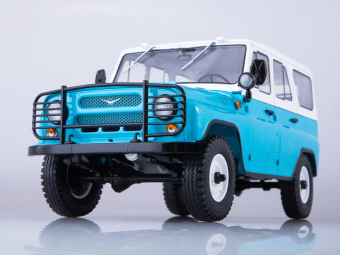 УАЗ-31514 голубой/белый
