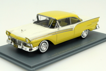 Ford Fairlane 500 Hardtop Coupe 1957 (yellow / white)